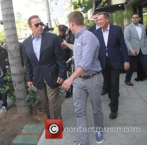 Arnold Schwarzenegger - Arnold Schwarzenegger leaves the Palm Restaurant in Beverly Hills - Los Angeles, California, United States - Friday...