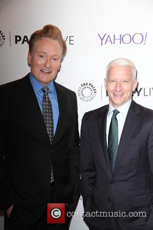 Anderson Cooper and Conan O'Brien - 'Fire and Ice: A Conversation with Conan O'Brien and Anderson Cooper' at The Paley...