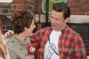 Tamsin Greig and Jamie Oliver