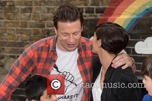Jamie Oliver and Frankie Bridge