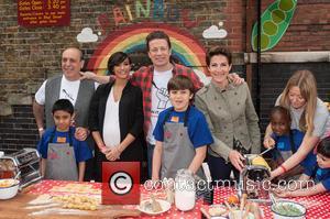 Jamie Oliver, Frankie Bridge, Gennaro Contaldo and Tamsin Greig