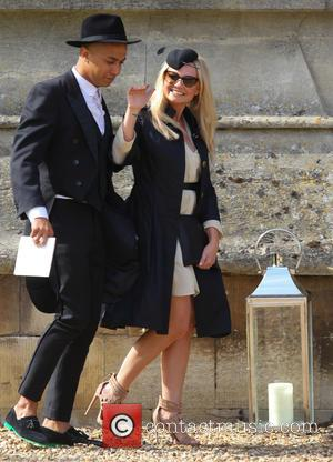 Jade Jones and Emma Bunton - The wedding of Geri Halliwell and Christian Horner at St Mary's Church in the...