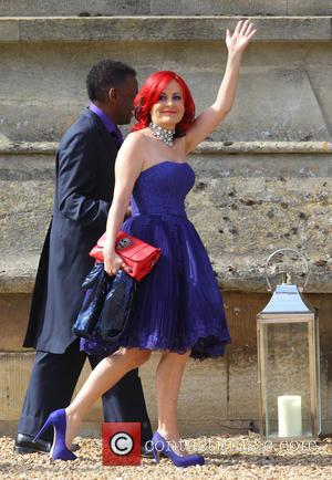 Carrie Grant - The wedding of Geri Halliwell and Christian Horner at St Mary's Church in the Woburn Abbey Estate...
