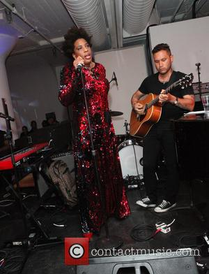 Macy Gray and Martin Estrada - A variety of stars were photographed as they attended the Jazz Foundation of America's...
