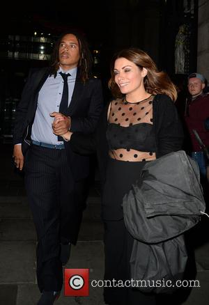 Alison King and Mystery Man - Alison King leaves the British Soap Awards in Manchester firmly holding the hand of...