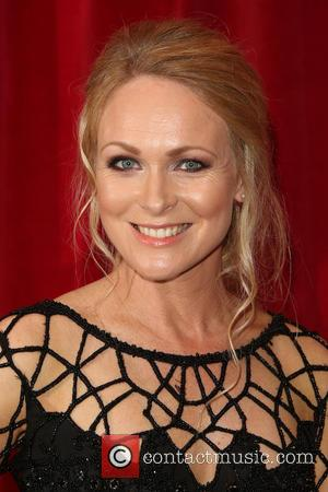 Michelle Hardwick - A host of stars from a variety of British soap operas were photographed as they arrived for...