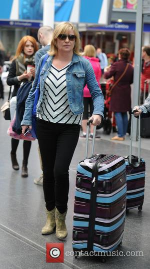 Laurie Brett - Soap stars arrive at Manchester Piccadilly Train Station ahead of tonight's British Soap Awards - Manchester, United...