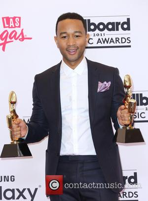 John Legend - Shots of the winners from the 2015 Billboard Music Awards in the press room after the ceremony...