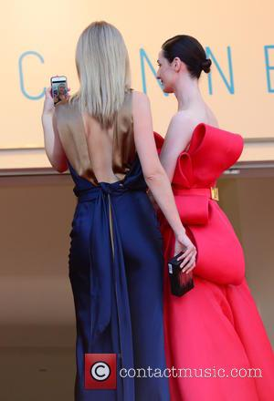 Erin O'Connor and Toni Garrn - A variety of celebrities were photographed as they took to the red carpet at...