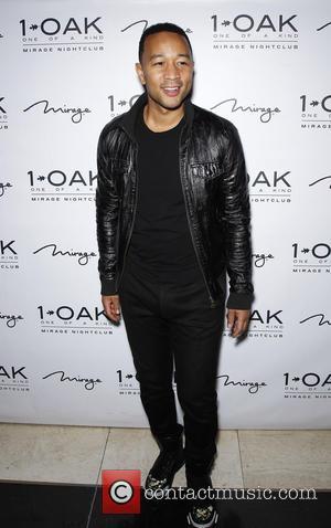 John Legend - 1 OAK Nightclub Inside Mirage Hotel & Casino Welcomes John Legend and Chrissy Teigen For A Special...
