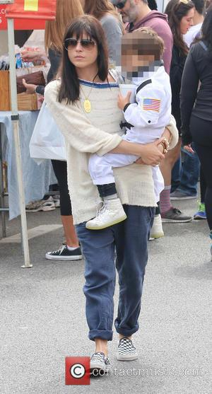 Selma Blair and Arthur Bleick - Selma Blair takes her fancy dressed 'astronaut' son, Arthur to the Farmers Market -...