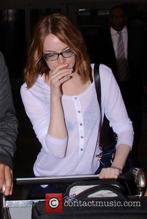 American actress Emma Stone who has starred in movies such as 'Birdman' and 'The Amazing Spider-Man' was snapped as she...