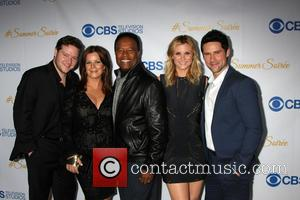 Harry Ford, Marcia Gay Harden, William Allen Young, Bonnie Sommerville and Ben Hollingsworth - CBS Summer Soiree at London Hotel...