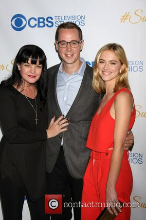 Pauley Perrette, Sean Murray and Emily Wickersham - CBS Summer Soiree at London Hotel - Los Angeles, California, United States...