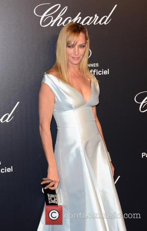 Uma Thurman - 68th Annual Cannes Film Festival - Chopard Gold Party - Arrivals at Cannes Film Festival - Cannes,...