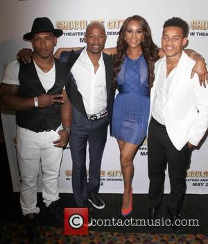 (L-R) Bolo the Entertainer, Darrin Dewitt Henson, Vivica A. Fox and Robert Ri'chard