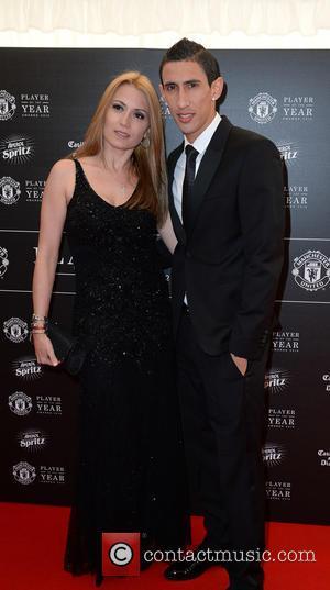 Manchester United, Angel Di Maria and Jorgelina Cardoso