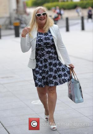 Vanessa Feltz - Vanessa Feltz arriving at BBC Radio 1 - London, United Kingdom - Tuesday 19th May 2015