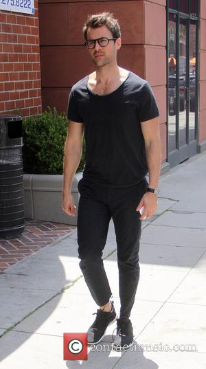 Brad Goreski - Celebrity fashion stylist, Brad Goreski wearing all black goes shopping in Beverly Hills - Los Angeles, California,...
