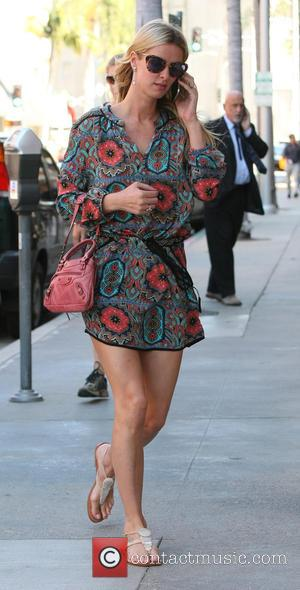 Nicky Hilton - Nicky Hilton goes shopping in Beverly Hills wearing a short paisley dress - Los Angeles, California, United...