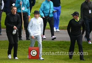 Phil Neville, Niall Horan and Rory Mcilroy