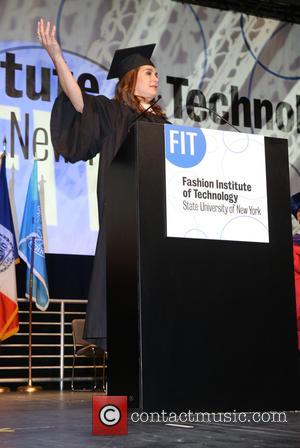 Brooke Shields - Brooke Shields and Marc Metrick give the keynote speeches at the Fashion Institute of Technology's 2015 commencement...