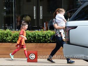 Coleen Rooney, Klay Rooney and Kai Rooney