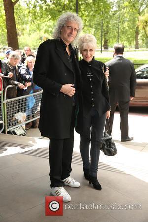 Brian May and Anita Dobson - Ivor Novello Awards 2015 held at Grosvenor House Hotel at Grosvenor House - London,...