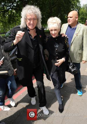 Brian May, Anita Dobson and Ivor Novello