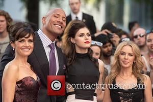 Dwayne Johnson, Carla Gugino, Alexandra Daddario and Kylie Minogue