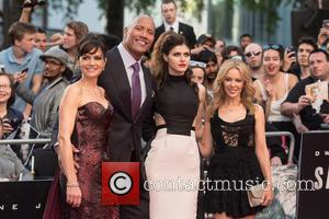 Kylie Minogue, Carla Gugino, Alexandra Daddario and Dwayne Johnson