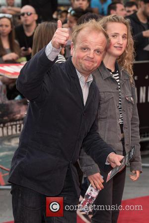 Toby Jones and Guest - San Andreas world premiere held at the Odeon Leicester Square - Arrivals. at Odeon Leicester...