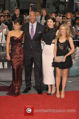 Carla Gugino, Dwayne Johnson, Alexandra Daddario and Kylie Minogue - the World Premiere of 'San Andreas' held at Odeon cinema...
