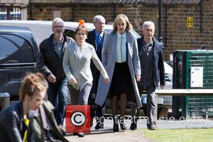 Tamzin Outhwaite, Nicolas Lyndhurst, Denis Lawson and Larry Lamb - Filming of the new TV series 'New Tricks' takes place...
