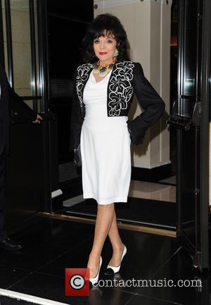 Dame Joan Collins - Afternoon Tea Arrivals at The Dorchester in aid of The Charity Shooting Star Chase - London,...