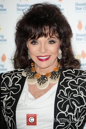 Dame Joan Collins - Afternoon Tea at the Dorchester hosted by Simon Cowell in aid of Shooting Star Chase, a...