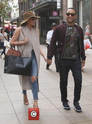 John Legend and Chrissy Teigen - John Legend and Chrissy Teigen go shopping at The Grove in Hollywood - Hollywood,...