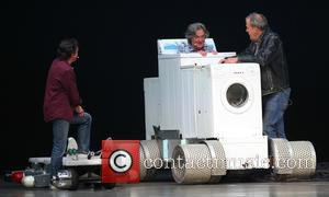 Jeremy Clarkson, Richard Hammond and James May - 'Clarkson, Hammond & May Live' at the Odyssey Arena in Belfast at...