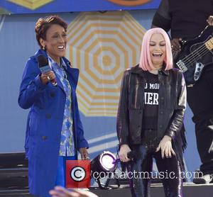 Robin Roberts and Jessie J - Jessie J performs on the 2015 Good Morning America (GMA) Summer Concert Series at...