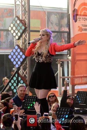 The 'All About That Bass' hitmaker Meghan Trainor was snapped as she performed live on NBC's