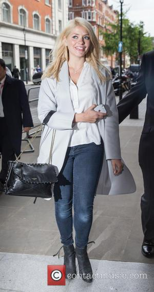 Holly Willoughby - Holly Willoughby arriving to appear on Live Lounge on the Fearne Cotton's last day as presenter. at...