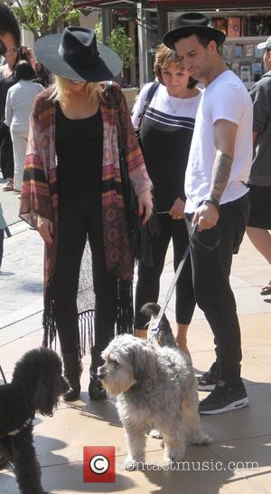 Mark Ballas and BC Jean - Mark Ballas takes his dog to The Grove with his girlfriend BC Jean in...