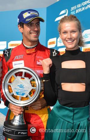 Lucas Di Grassi and Toni Garrn