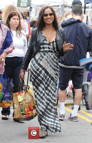 Garcelle Beauvais - Garcelle Beauvais enjoys a morning at the Farmers Market - Los Angeles, California, United States - Sunday...