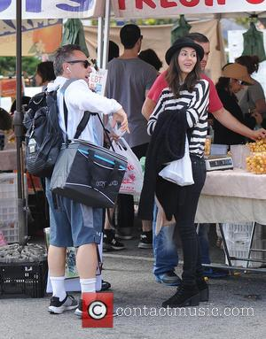 Victoria Justice - Victoria Justice wears a bowler hat to the Farmers Market - Los Angeles, California, United States -...