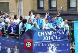 Didier Drogba, John Terry, Thibault Courtois, Willian, Branislav Ivanovic and Nemanja Matic