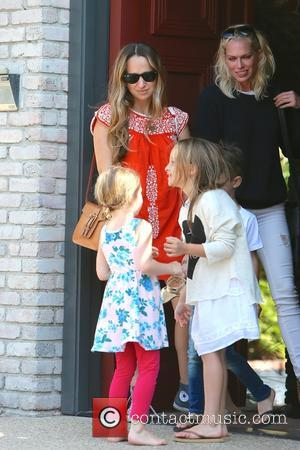 Jennifer Meyer and Ruby Maguire - Celebrities at Memorial Day Party hosted by Joel Silver at Malibu - Los Angeles,...