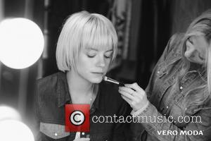 Lily Allen - Lily Allen is shown in a series of behind the scenes images after the singer/songwriter was announced...