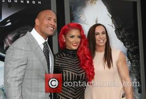Dwayne Johnson, Eva Marie and Dany Garcia
