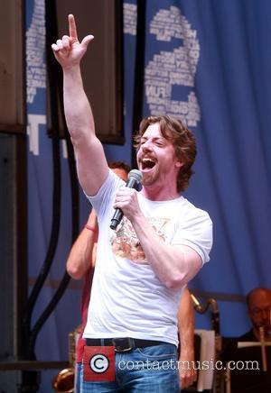 Christian Borle - 2015 Stars In the Alley outdoor concert held in Shubert Alley on Broadway. at Shubert Alley, -...